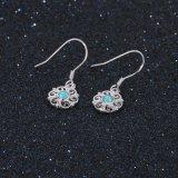 Beste silberne Schmucksachen des Preis-blaue Opalohrring-Form-Blumen-Entwurfs-Ohrring-Großhandels925 (559739690367)