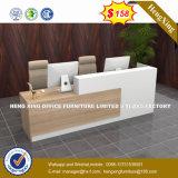 Стальные металлические скромности панель из закаленного стекла со стойкой регистрации Стол письменный стол (HX-8N1754)