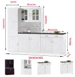 チリ様式の台所立場のキャビネット白いカラー2ドアの立場のキャビネット