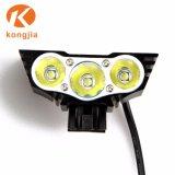 매우 밝은 재충전용 LED 자전거 빛 고정되는 Solarstorm 자전거 빛