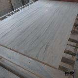 Мраморные текстуры поверхности неподвижной плиты Corian листов
