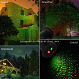 Luz impermeable del proyector del laser del LED de la Navidad del jardín al aire libre solar de la luz
