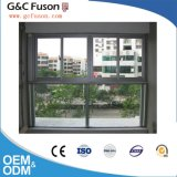 Vitre coulissante de profilé en aluminium double fenêtre en verre