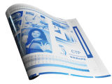 Ecoographix disolvente Térmica de doble capa resistente a la placa de CTP
