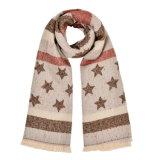 冬の暖かい編まれた編まれたショールのスカーフ(SP251)のような女性の180*65cmの可逆カシミヤ織