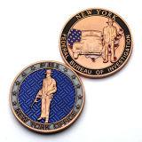 Cliente poco costoso della fabbrica possedere le monete placcate smalto molle falso militare dell'oro di marchio