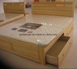 Festes hölzernes Bett-moderne doppelte Betten mit Qualität (M-X2358)
