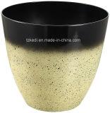 高品質の装飾的なプラスチック植木鉢(KD9152K)