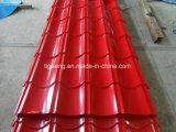 Anti Corrossion galvanisé prélaqué tuiles de toiture en métal avec du feutre de couleur
