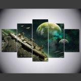 Raumschiff-Planeten-Bild-Segeltuch-Kunst-Segeltuch-Druck des Druck-HD Ihr Raum-Dekor