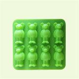 Прессформа мыла массажа силикона формы медведя клеток Sy03-04-018 8