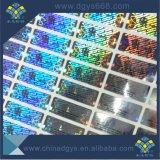Collant fait sur commande de laser d'or de numéros de série de qualité