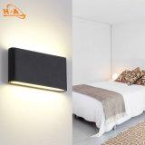 Luz ahorro de energía de la pared del negro del alto brillo 12W para el exterior