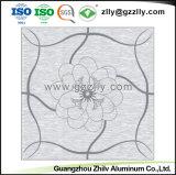 Panneau de plafond en verre dépoli décoratifs avec motif de fleurs