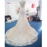 Китая изготовления оптовой продажи безрукавный оболочки платье 2017 венчания
