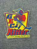 熱の切口の熱い溶解の接着剤が付いているカスタムロゴの刺繍パッチ