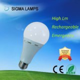 Batteria di sigma AC/DC Gfc 7W 9W 12W B22 E27 che funziona l'indicatore luminoso Emergency della lampadina ricaricabile di riserva della lampada LED