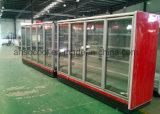 Marchandiseur de verre frigorifié de porte avec l'aménagement lourd réglable