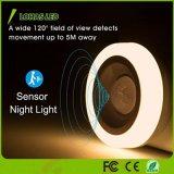 Selbstan/aus-des PIR Fühler-Bewegung betätigtes LED weiches Weiß 3000K Nachtdes licht-1.5W
