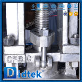 Didtek muere la válvula de puerta da alta temperatura de acero con el operador del engranaje de gusano