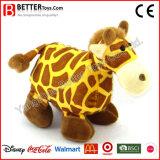 En71 아이를 위한 최고 연약한 견면 벨벳 박제 동물 지라프 장난감