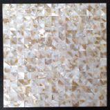 Mosaico blanco de Trangle del shell 20 del agua dulce