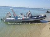 6.2m Fiberglas-Boots-Rippen-Boots-Fischerboot-aufblasbares Boot