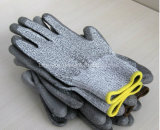 отрезанные 13G упорные трудные перчатки Анти--Ножа перчаток при покрынный PU