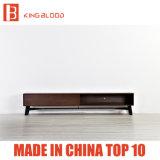 Moderner hölzerner Fernsehapparat-Tisch-Entwurf mit Abbildungen