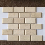 """浴室2X4の""""大理石の煉瓦モザイク壁のタイル"""