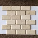 "ZIEGELSTEIN-Mosaik-Wand-Fliese des Badezimmer-2X4 "" Marmor"
