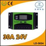 30A 24V LCDの表示の太陽電池パネル情報処理機能をもった電池の料金のコントローラ