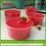 Большой аромат Tealight при свечах в прозрачный пластиковый сосуд