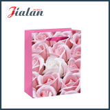 Glossy Laminated Ivory Paper Daily Flowers Shopping Gift Paper Bag