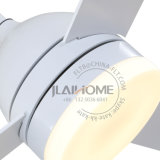Ventilador de techo eléctrico blanco con del LED de la luz el rango 110-240V del voltaje extensamente
