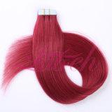 Цвет Синий прямые волосы Бразилии 100% Реми ленту в волосы Extensions