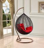 현대 여가 홈 호텔 사무실 금속 고리 버들 세공 둥근 등나무 거는 의자 (J830)