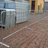 Barrera movible de la cerca de seguridad de tráfico del deporte con los pies planos