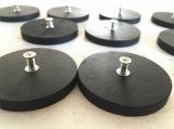 Bases materiais magnéticas da xadrez da linha externa com borracha