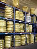 Boyau en caoutchouc flexible spiralé à quatre fils de boyau à haute pression sertissant le boyau hydraulique