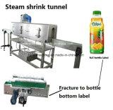 Tunnel de écriture de labels de rétrécissement d'étiquette d'animal familier de PVC de vapeur de bouteille pour la bouteille carrée ronde