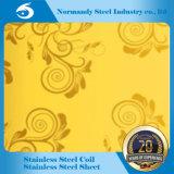 304 3cr12 Plaque en acier inoxydable gaufré/gravure pour la décoration