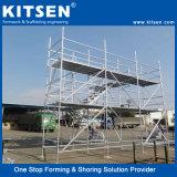 Couvrant la totalité des structures d'ingénierie Bague en acier échafaudages de verrouillage