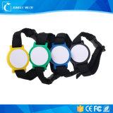Wristband tejido de RFID con la impresión de la insignia