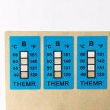 66 degrés de PVC de la température de collant carré de papier d'indicateur de modification d'étiquette sensible à la chaleur de couleur