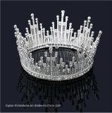 crown (J02) 신부 바로크식 크라운 결혼식 투구 보석 새로운 둥근 공주