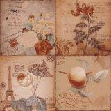 400*400mm planche en bois tuile mosaïque artistique de la porcelaine de tuiles de plancher