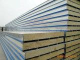 Isolierfarben-Stahlfelsen-Wolle-Zwischenlage-Panel-Fabrik-Preis feuerfest machen