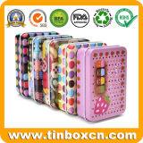 長方形のボックスを包むお菓子屋キャンデーの菓子のための真新しい缶