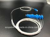 Divisor óptico Blockless Sc/Upc del PLC de la telecomunicación 1X8 de Gpon Epon de fibra